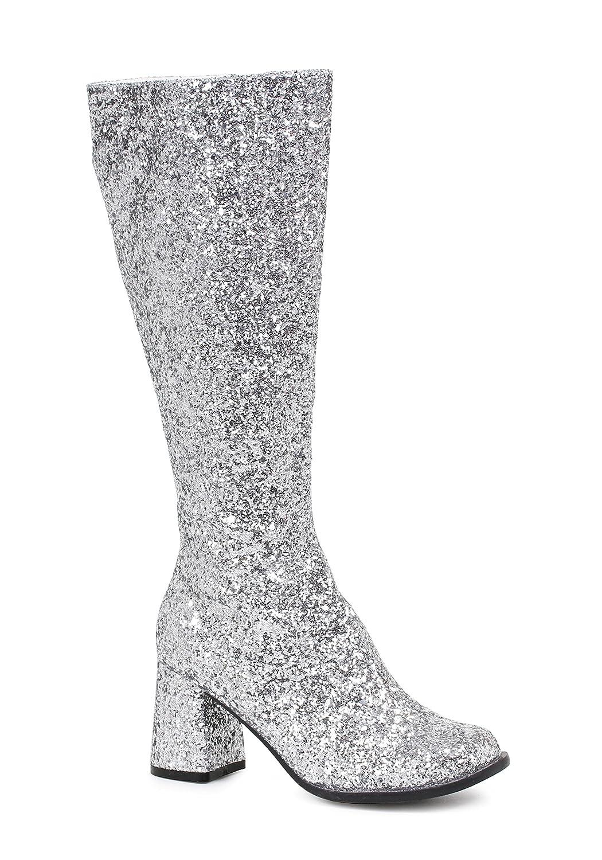 Ellie Shoes Women's Gogo-g Chelsea Boot B00RWU9ZGQ 7 B(M) US|Silver Glitter