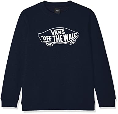 Vans OTW Crew, Sweat-Shirt Gar?on, (Dress Blues-White Outline Pok), 128 (Taille Fabricant: 128 S)