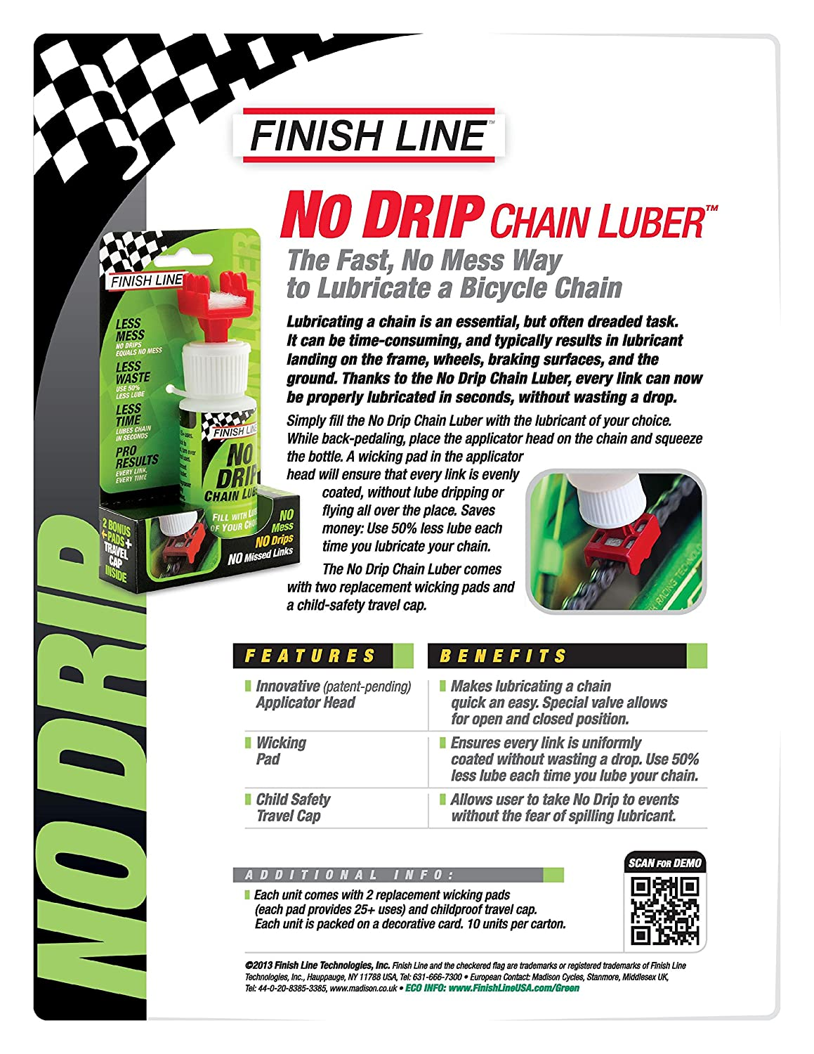 Finish Line Free Shipping Trick >> Finish Line No Drip Chain Luber