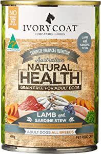 Ivory Coat Lamb & Sardine Stew 400gm Grain Free Dog Food, Adult and Senior