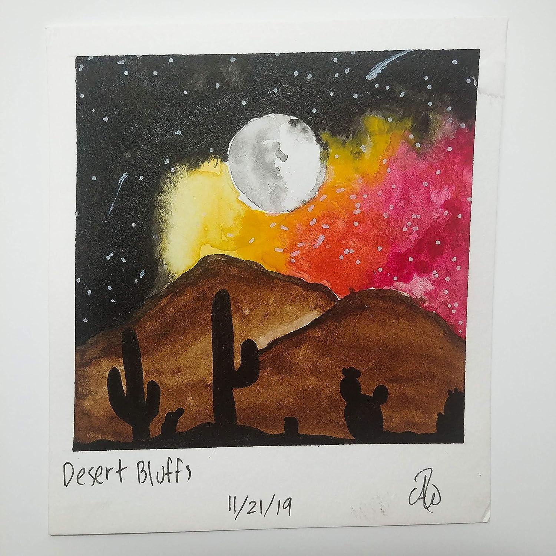 Polaroid Watercolor Desert