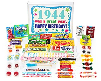 Woodstock Candy 1944 75th Birthday Gift Box Of Nostalgic Retro From Childhood For 75