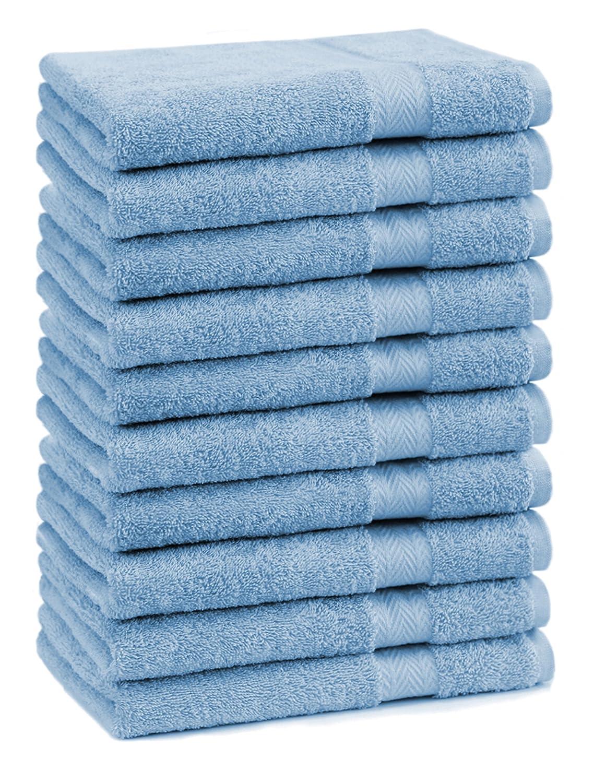 BETZ Set di 10 asciugamani per ospiti 30x50 Premium 100% cotone Color beige