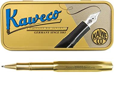 Kaweco Brass Sport Gel/Ballpoint Pen Including 0.7 mm Rollerball Pen Refill for Left Handed and Right-Handed in Classic Design with Ceramic Ball I Gel Rollerball 13.5 cm
