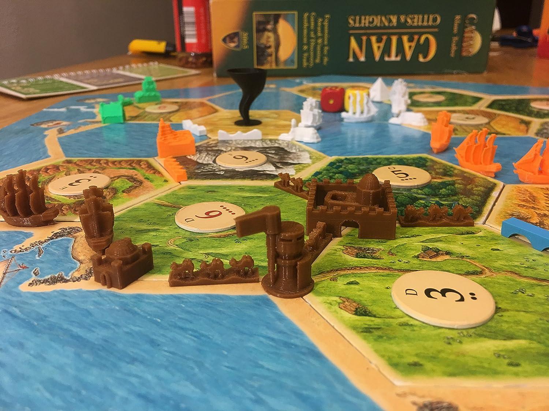 Build3D piezas de repuesto para colonos de ciudades catanas y caballeros de expansión – Juego de 6 jugadores – chino – Egpytian – romano – Incan – Gótico – Viking – Metropolis – Merchant – Barco: Amazon.es: Juguetes y juegos