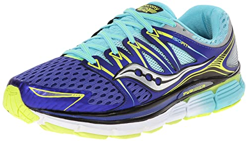 Saucony Women's Triumph ISO Running Shoe, Twilight/Oxygen/Citron, 5 M US