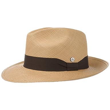 2a64d3c08b7b4 Lierys Classic Fedora Panamahut Hut Strohhut Panamastrohhut Sommerhut  Sonnenhut Bogarthut für Damen und Herren