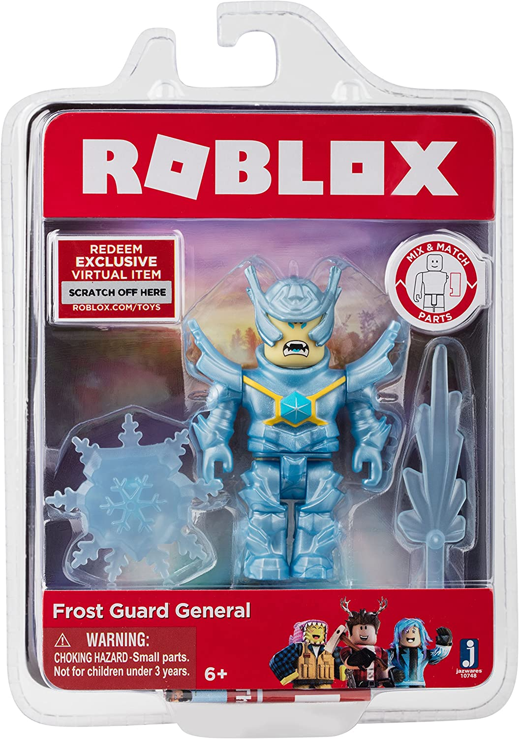 Roblox Jazwares Con Amazon Com Roblox Frost Guard General Figure Pack Toys Games
