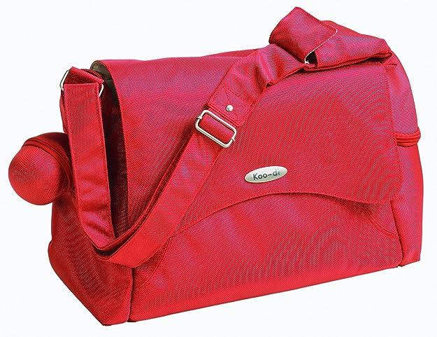 Koo-di 15.5 x 36 x 26.5cm Messenger Changing Bag Orange