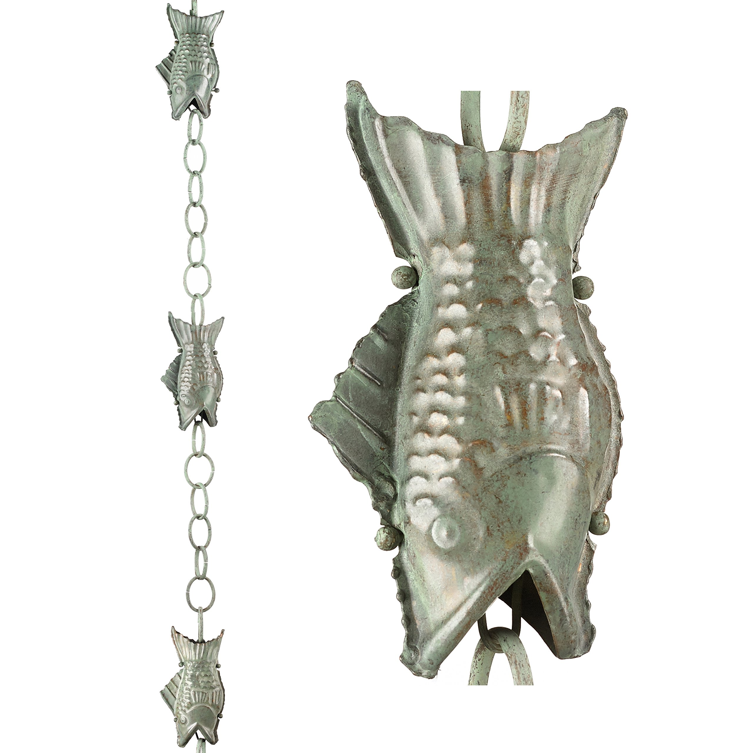 Good Directions Fish Pure Blue Verde Copper 8.5-Foot Rain Chain Leader by Good Directions