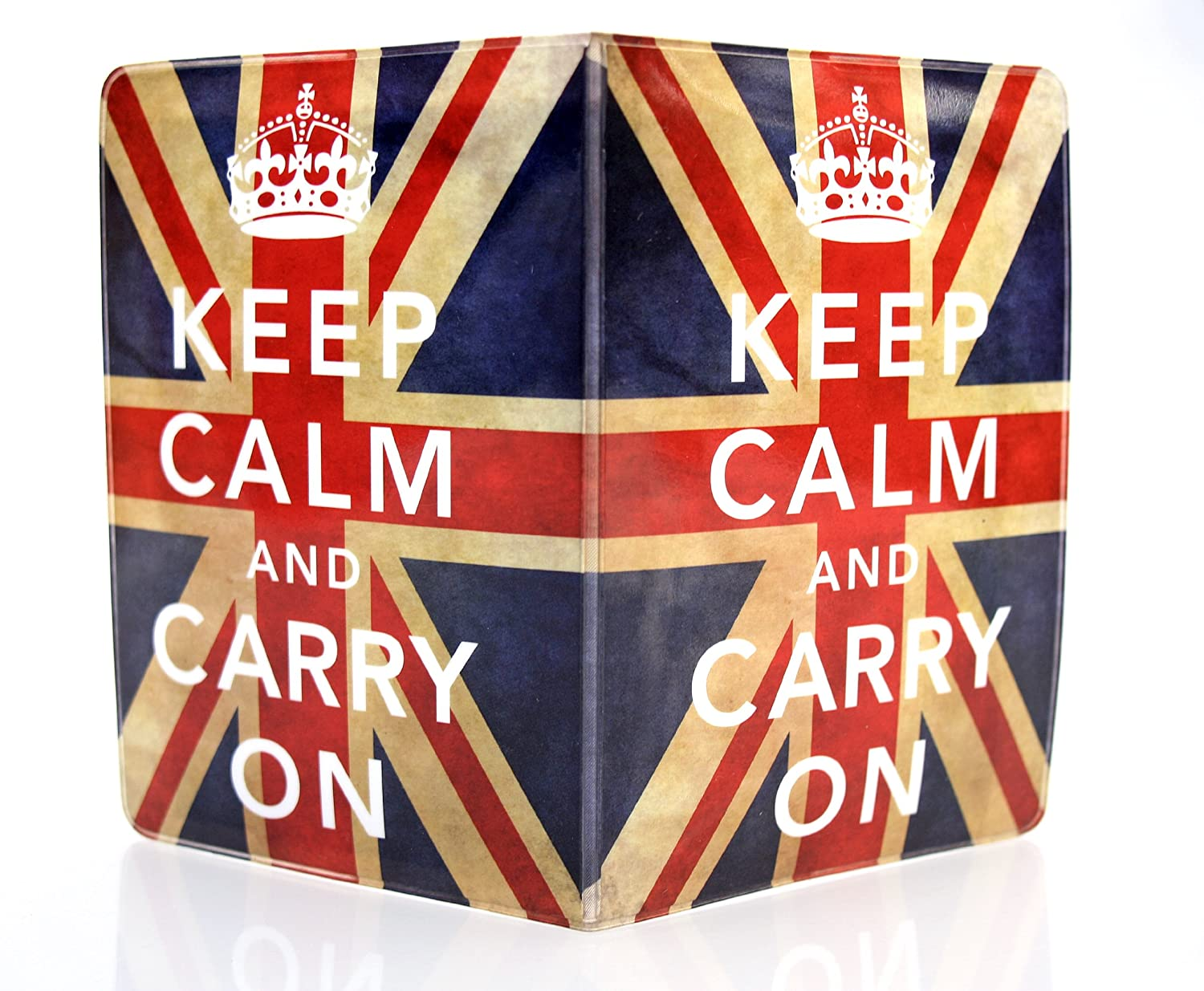 Keep Calm And Carry On Union Jack passeport Coque