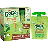 GoGo SqueeZ Organic Applesauce, Apple Cinnamon, 3.2-Ounce Portable BPA-Free Pouches, 48 Pouches (12 Boxes with 4 Portable BPA-Free Pouches Each)