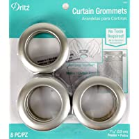 "Dritz Curtain Grommets, 14360, Pewter, 1-9/16"""