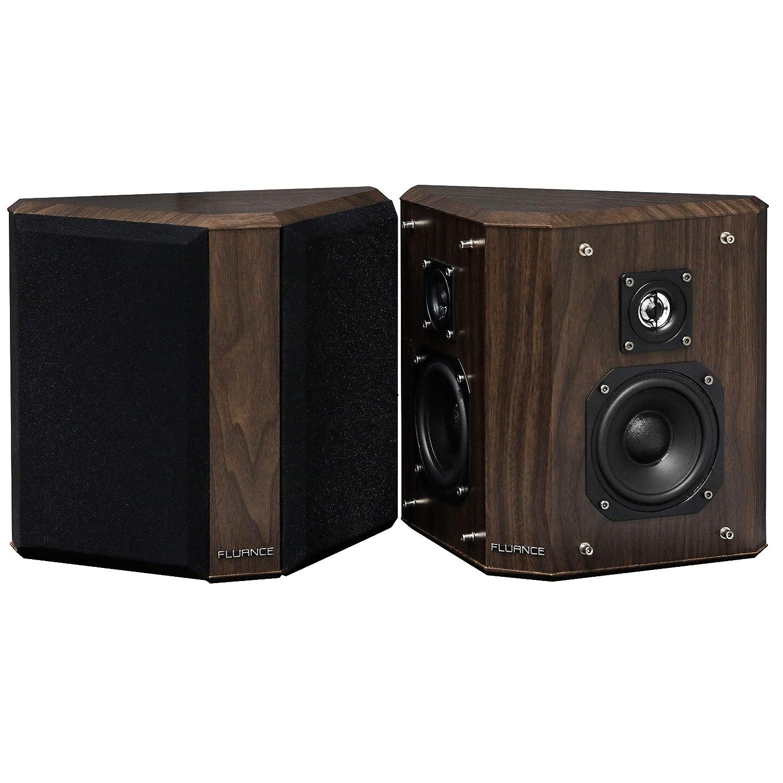 Fluance SXBP2W Home Theater Bipolar Surround Sound Speakers (Natural Walnut)