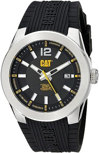 Cat Relojes Hombre ab14121137 Icono analógico Pantalla Cuarzo Negro Reloj: Amazon.es: Relojes