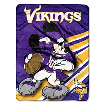 1edb05c5960da1 Amazon.com : NFL Minnesota Vikings Mickey Mouse Ultra Plush Micro Super  Soft Raschel Throw Blanket : Sports Fan Throw Blankets : Sports & Outdoors