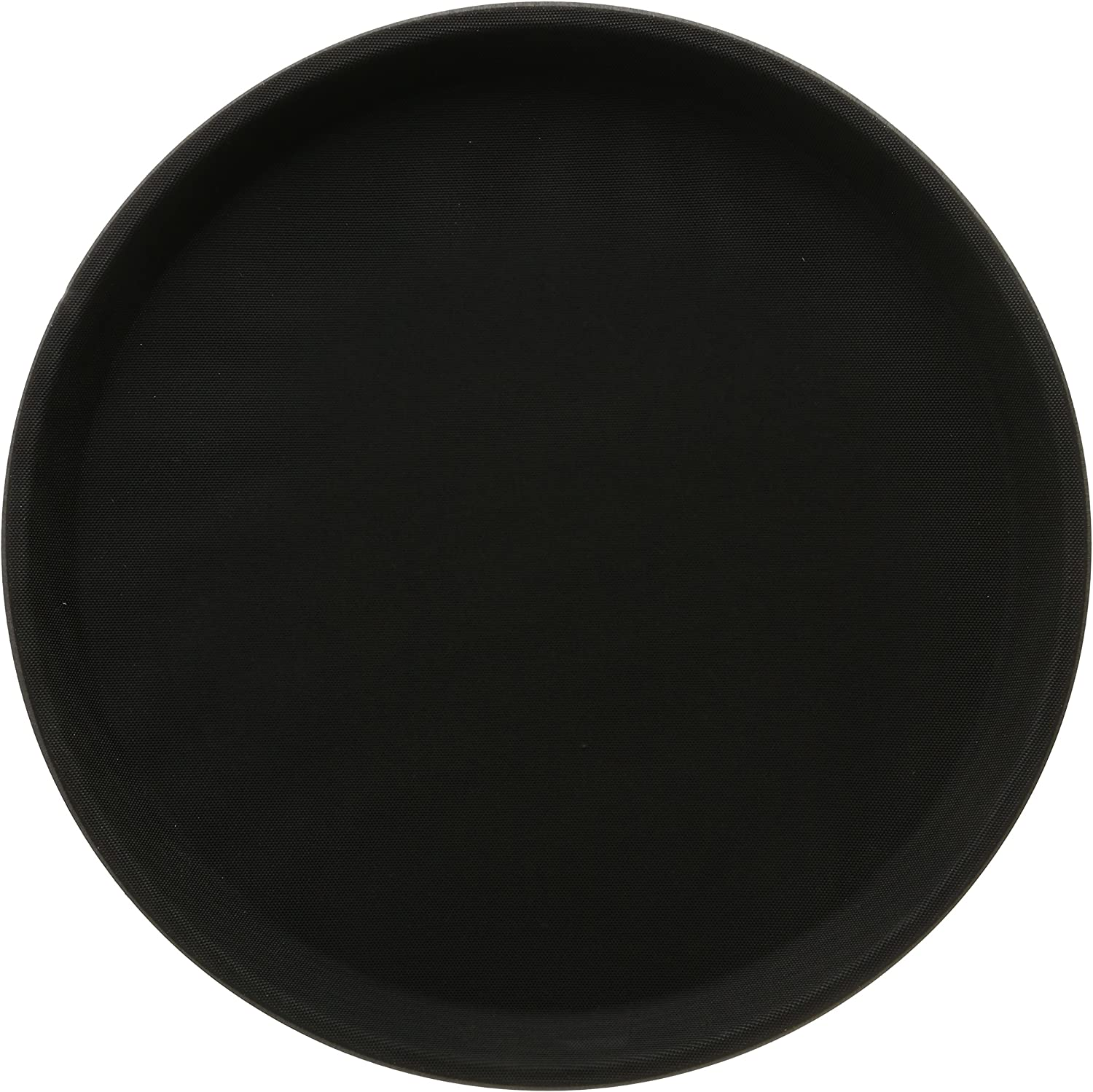 Winco Easy Hold Round Tray, 11-Inch, Black