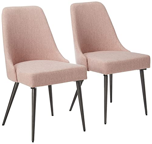 Christopher Knight Home Dawn Modern Fabric Dining Chairs Set of 2 , Light Blush