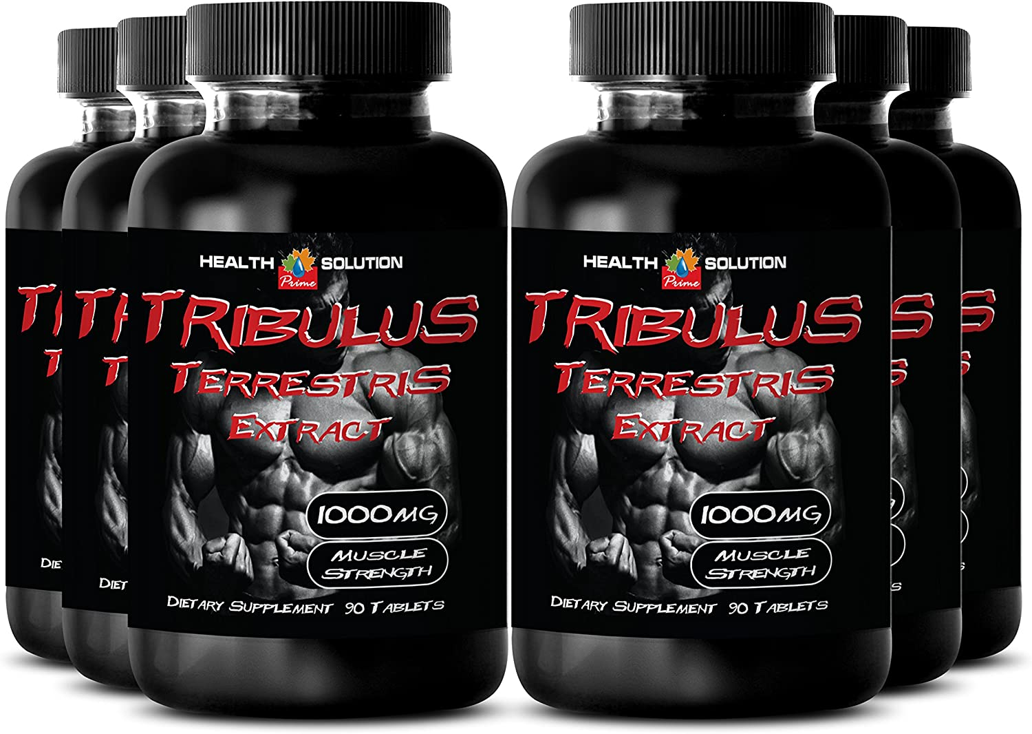 Tribulus Bulgarian - Tribulus Terrestris Extract 1000mg Muscle Strength - Sexual Desire Pills (6 Bottles 540 Tablets): Health & Personal Care
