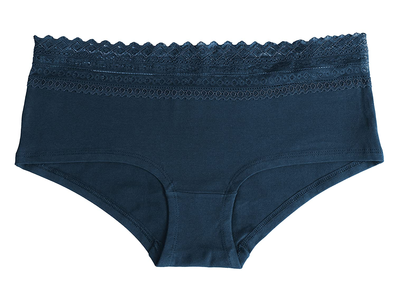 Blue and Grey Melange 95/% Cotton Fabio Farini Pack of 6 Panties in Black