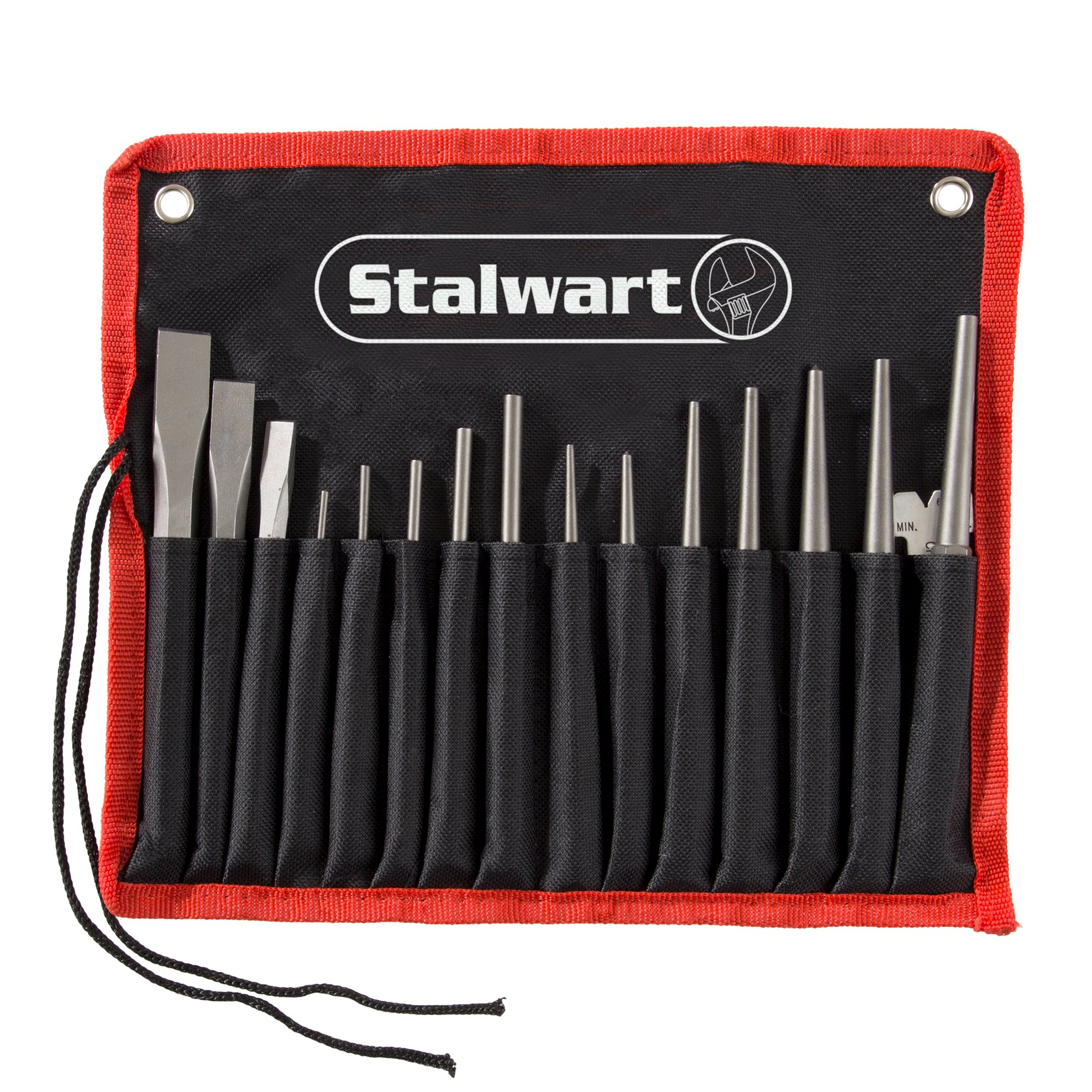 Punch And Chisel Set, 16 Pieces- Includes Taper Punches, Cold Chisels, Pin Punches, Center Punches, Chisel Gauge, and Storage Case- By Stalwart by Stalwart