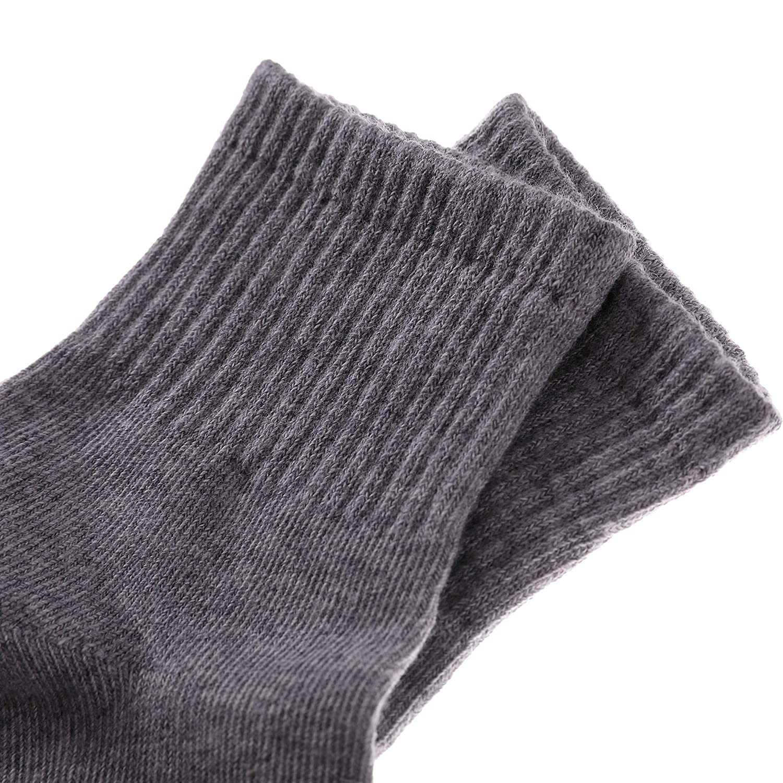 Dosoni 6 Pack Classic Unisex Toddler Big Boys Girls Athletic Ribbed Cotton School Uniform Crew Socks 3-12 Year Old