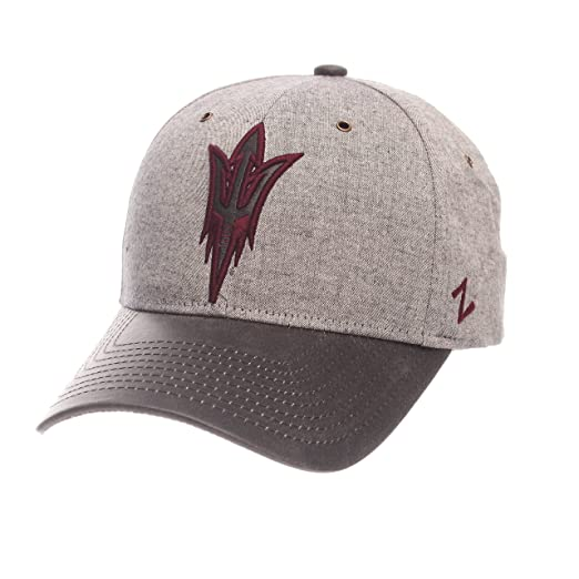 cheap for discount ca171 3f4cd Zephyr NCAA Arizona State Sun Devils Adult Men The Supreme Cap, Adjustable,  Gray