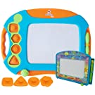 CHUCHIK Toys Magnetic Drawing Board for Kids and Toddlers. Large 15.7 Inch Magna Doodle Writing Pad Comes with a 4-Color Travel Size Sketch Doodle Board.