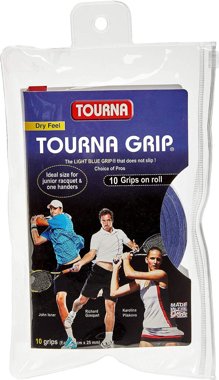 TOURNA Grip - Overgrip de Tenis (Pack de 10 Grips), Azul, L ...