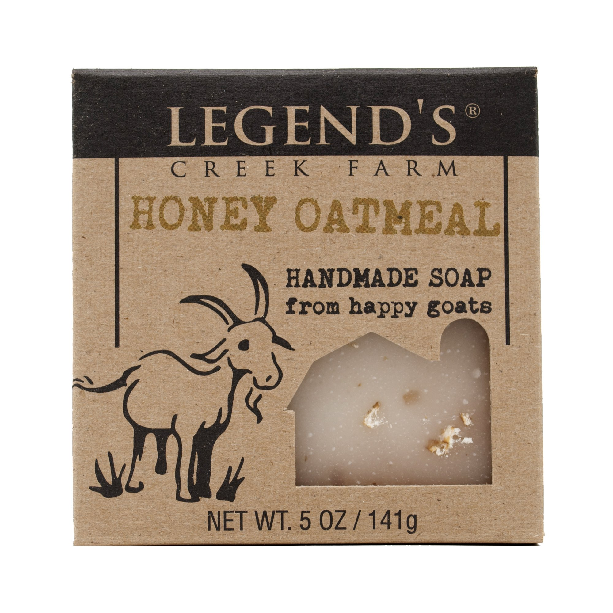 Honey Oatmeal Goat Milk Soap - 5 Oz Bar - Great For Sensitive Skin