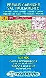 Prealpi Carniche, Val Tagliamento: Wanderkarte Tabacco 013. 1:25000 (Cartes Topograh)