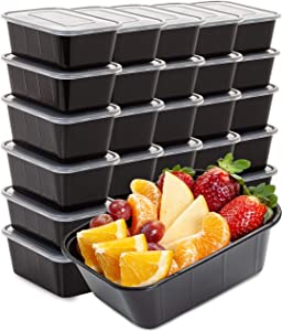 Food Containers Meal Prep Containers (30 Pack 33 Ounce) Plastic Food Containers with lids Food Prep Containers for Meal Prepping Plastic Food Storage Containers With Lids Plastic Containers With Lids