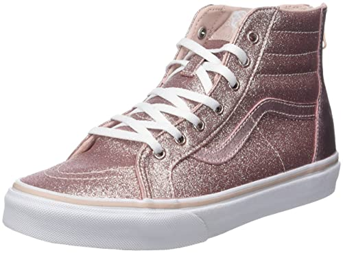 Vans Sk8 Hi Zip Glitter & Metallic- Blush Kids 11