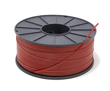 Spool of 4000 Feet Red LDPE Coated Wire Dynalon 626814 Cut To Size Lab Twist Tie Closure Wires