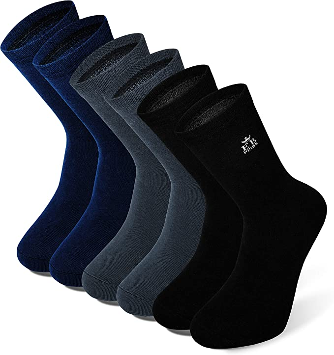 EB Prime Calcetines de Algodón para Hombre y Mujer, 6 Pares ...