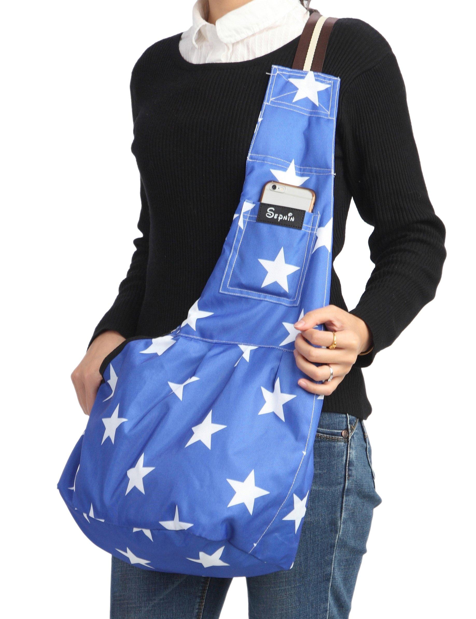 Sepnine 600D Oxford Pet Carrier Shoulder Bag With Extra Pocket for Cat Dog And Small Animals (L)