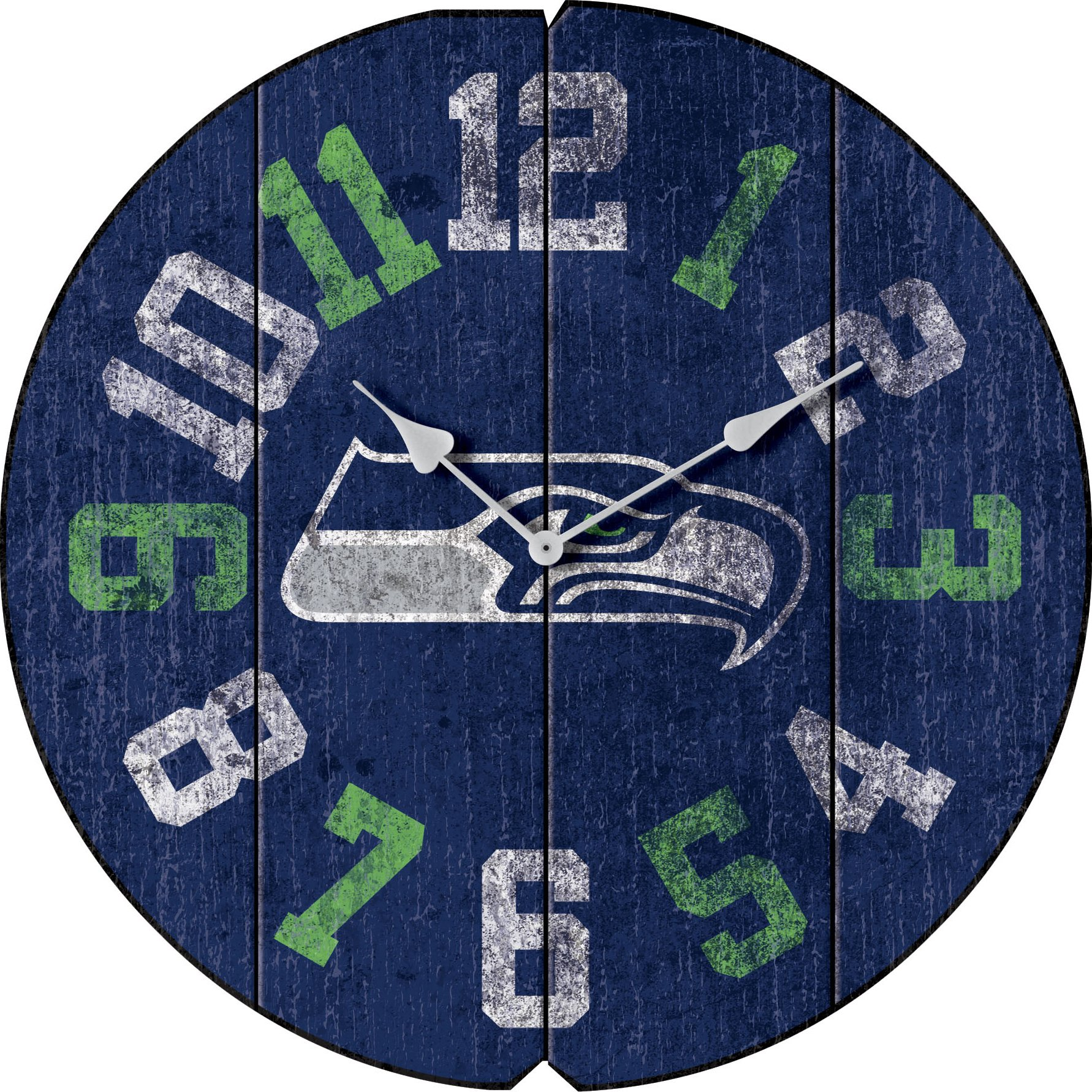 Imperial Officially Licensed NFL Merchandise: Vintage Round Clock, Seattle Seahawks by Imperial