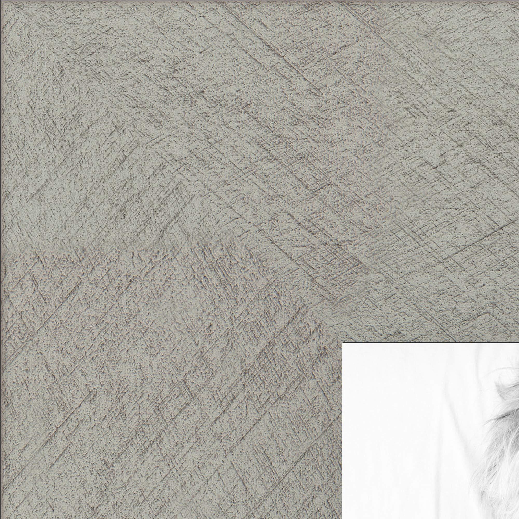 ArtToFrames 7x20 inch Metallic Deco Silver Picture Frame, 2WOM0066-20277-YSLV-7x20
