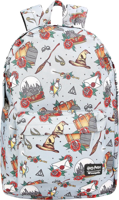 Loungefly Harry Potter Hogwarts Floral Print Backpack Standard