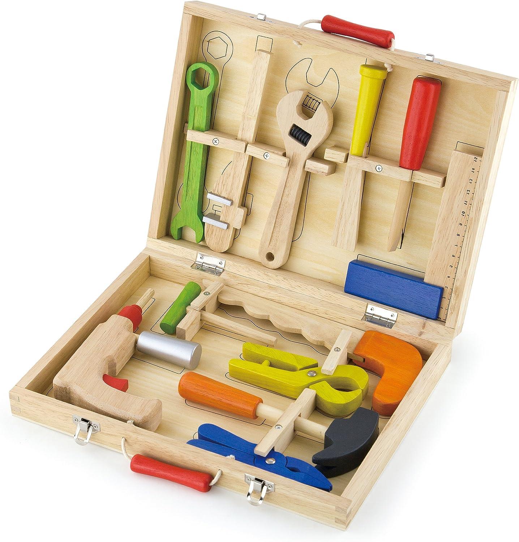 VIGAtoys Viga Wooden Tool Set 12聽Pieces in Storage Box # 50388