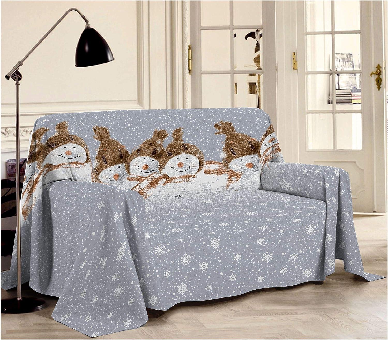 HomeLife – Manta decorativa para sofá de muñeco de nieve – Sábana ...