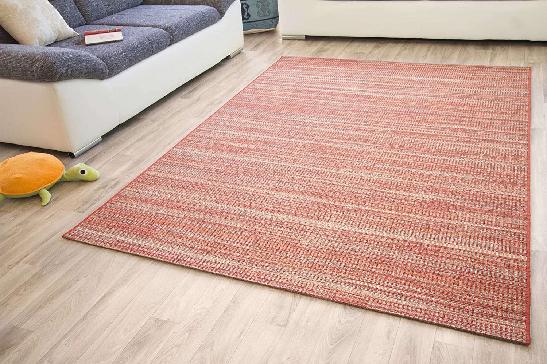 Designer Teppich Modern Dalarna Design in Melange Blau Grau, Siegel GUT Siegel Grau, Zertifiziert, Größe  200x290 cm d65b83