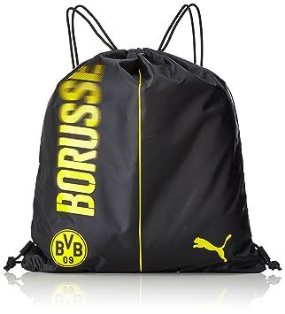 cab4fbaab9841 PUMA BVB Fanwear Gym Sack Turnbeutel Cyber Yellow Black