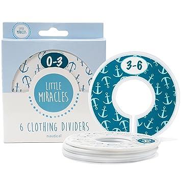 Baby Closet Dividers Set Of 6, Nautical Baby Nursery Decor, Perfect Closet  Organizers For