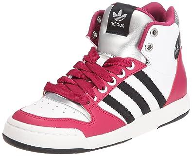 pretty nice a7604 42999 adidas Midiru court mid W, Damen Sneaker Violett Violet, blanc et noir 43 1