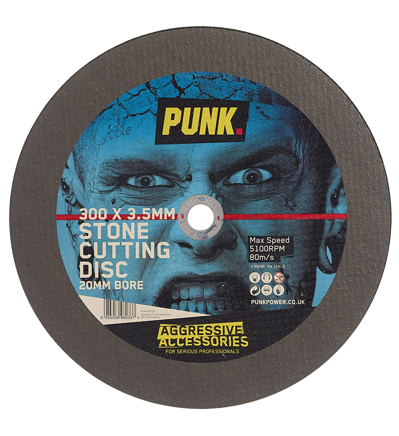 PUNK PUNK00209 300mm Stone Cutting Disc with 20mm Bore BPT