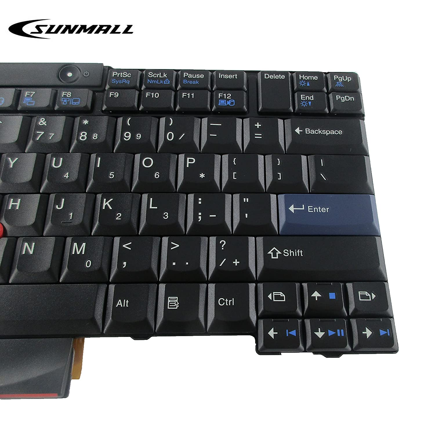 T410 Keyboard Sunmall New Laptop With Pointer Lenovo Thinkpad T400s T420 T510 T520 W510 X220 For X 220 T400 T420s Us Layout Black6 Months