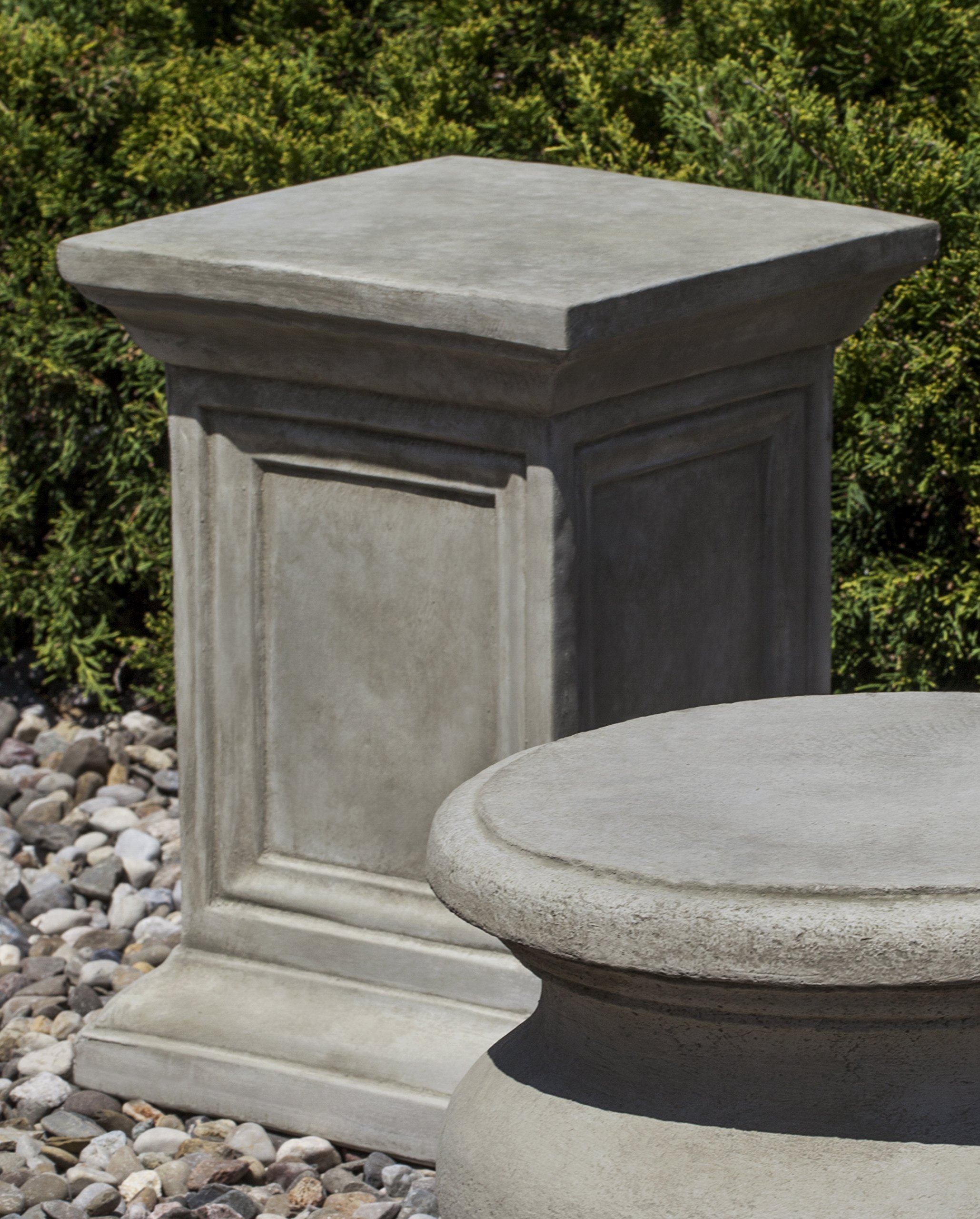 Campania International PD-32-GS Square Pedestal, Grey Stone Finish