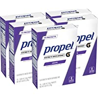 Propel Powder Packets Grape with Electrolytes Vitamins and No Sugar, 50 Count
