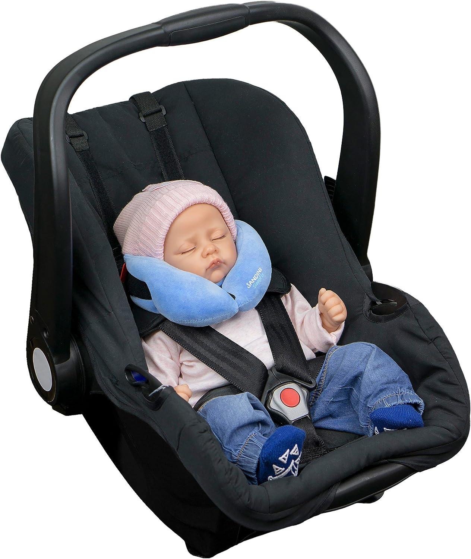 Reposacabezas//reductor de asiento// evita que la cabeza de su hijo caiga mientras duerme Accesorios de asiento infantil para coche//bicicleta//viaje coj/ín cervical con funci/ón SANDINI SleepFix/® Baby